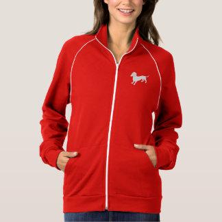 Röd och vittaxdesign jackor med tryck