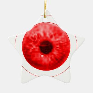 Röd ögaögonglobjGibney MUSEUMkonstnären Serie Stjärnformad Julgransprydnad I Keramik