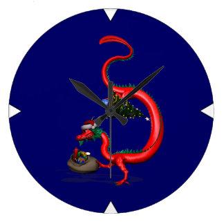 Röd östlig drake stor klocka