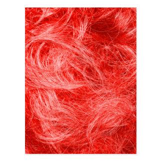 Röd päls vykort