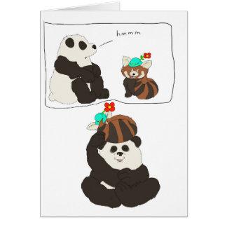 Röd Panda för Panda Hälsningskort