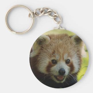 Röd Panda Rund Nyckelring