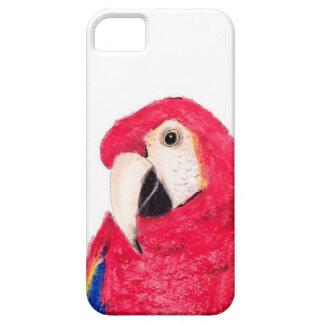 Röd papegoja iPhone 5 fodral