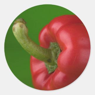 röd paprika runt klistermärke