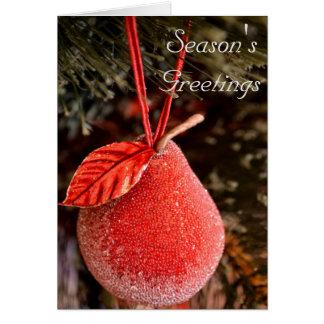 Röd Pearjulkort Hälsningskort