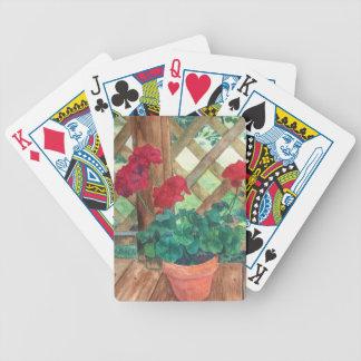 Röd pelargon spelkort