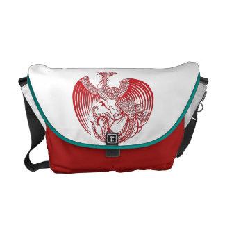 Röd Phoenix messenger bag