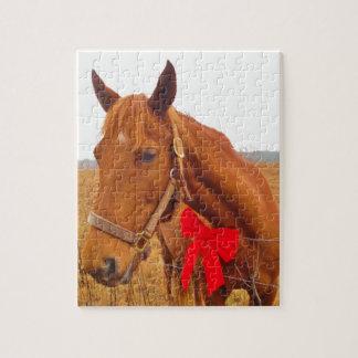 Röd pilbåge för brun häst pussel