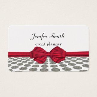 Röd pilbåge för förtjusande gladlynt abstrakt visitkort