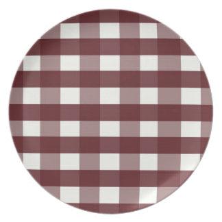 Röd pläd för Cranberry för Melaminejultallrikar Tallrik