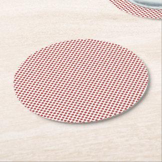 Röd polka dots för aurora underlägg papper rund