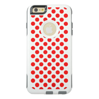 Röd polka dots OtterBox iPhone 6/6s plus skal