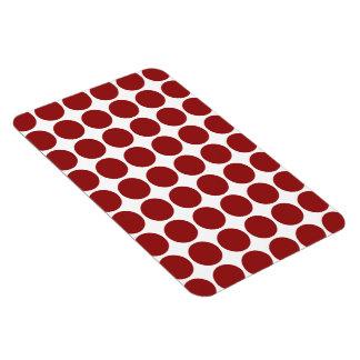 Röd polka dots på vit magnet