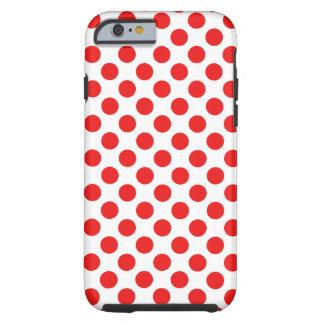 Röd polka dots tough iPhone 6 case