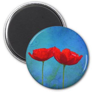 Röd pop magnet
