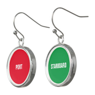 Röd port- och gröntstyrbord örhängen