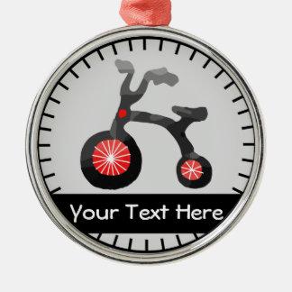 Röd prydnad för personlig för cykel för julgransprydnad metall