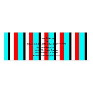 Röd rand för krickasvartvit visit kort