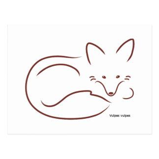 Röd räv vykort