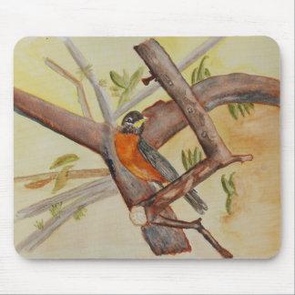 Röd Robin mousepad Musmatta