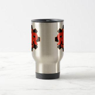 Röd robottravel mug resemugg