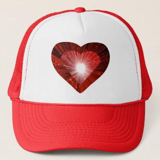"""Röd röd hjärta""""hjärta"""" truckerkeps"""
