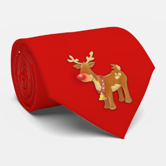 Röd röd näsren slips