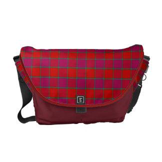 Röd & rödbrun messenger bag för MacNab Tartanpläd
