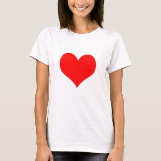 Röd romantik för hjärtakärlekvalentines day tshirts