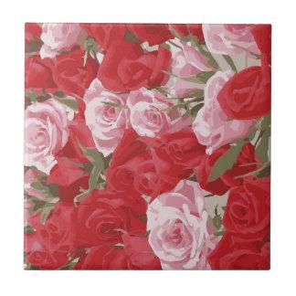 Röd ros för Thalia Kakelplatta