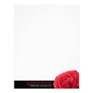 Röd ros med svart brytning brevhuvud