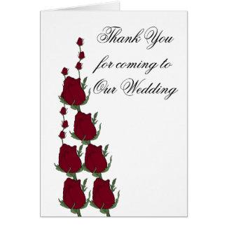 Röd ros som gifta sig gästtackkort hälsningskort