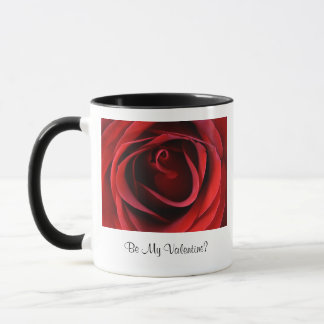 Röd ros upp slut, är min valentin mugg
