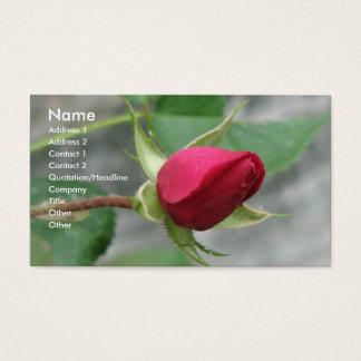 Röd ros visitkort