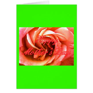 Röd rosa ros för lycklig mors dag MUSEET Zazzle Hälsningskort