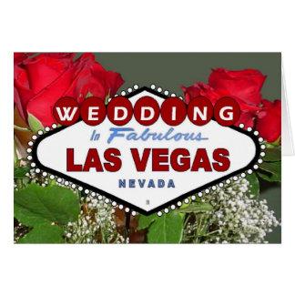 Röd rosBRÖLLOP i det Las Vegas kortet Hälsningskort