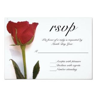 Röd rosbröllop OSA 8,9 X 12,7 Cm Inbjudningskort