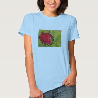 Röd rosenknoppT-tröja Tröja