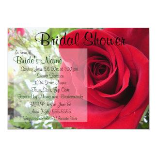 Röd rosinbjudningskort för möhippan 12,7 x 17,8 cm inbjudningskort