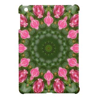 Röd rosnatur, Blomma-Mandala iPad Mini Skydd