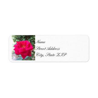 Röd rosreturadress Lables Returadress Etikett
