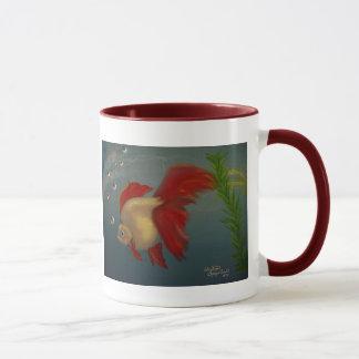 Röd Ryukin guldfiskmugg