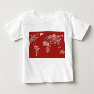 Röd sandig kartbok t shirts