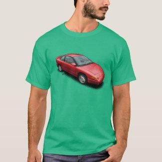 Röd Saturn SC2 bil på den gröna T-tröja T-shirts