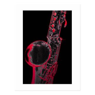 Röd Sax Vykort