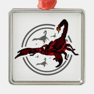 Röd Scorpion Julgransprydnad Metall