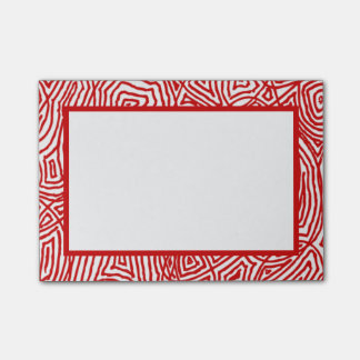 Röd Scribbleprint gräns Post-it Lappar