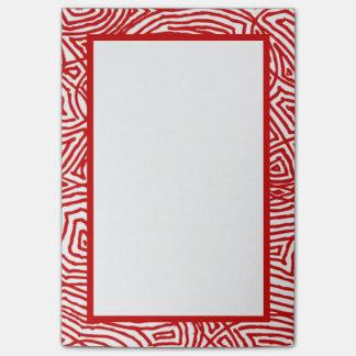 Röd Scribbleprints gräns Post-it Block