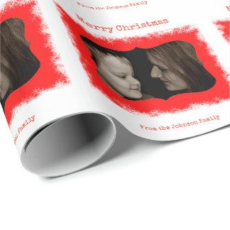 Röd sjal för gåva för personlig för presentpapper