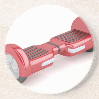 Röd själv-balansera sparkcykel underlägg